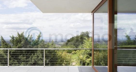 Grey slate terrace