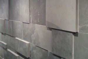 different thickness slate wall