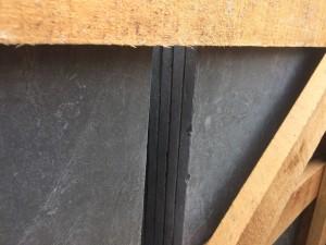 Black slate anticato tumbled