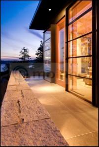 Black terrace slate