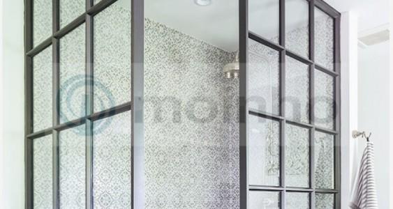 Black Brazilian slate bathroom