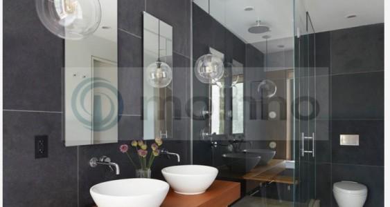 Wall bathroom slate black brazil
