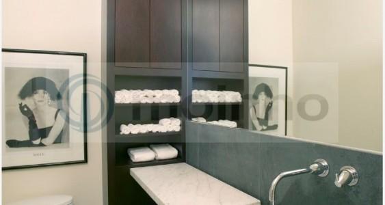 Grey Brazilian slate bathroom