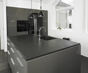 Kitchen black slate
