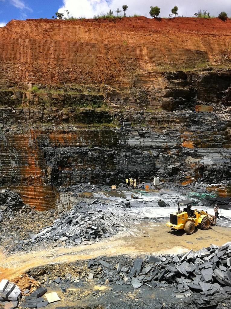 Open top quarry Pure Black slate