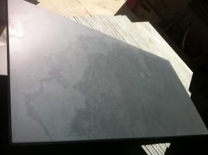 Polished slate surface